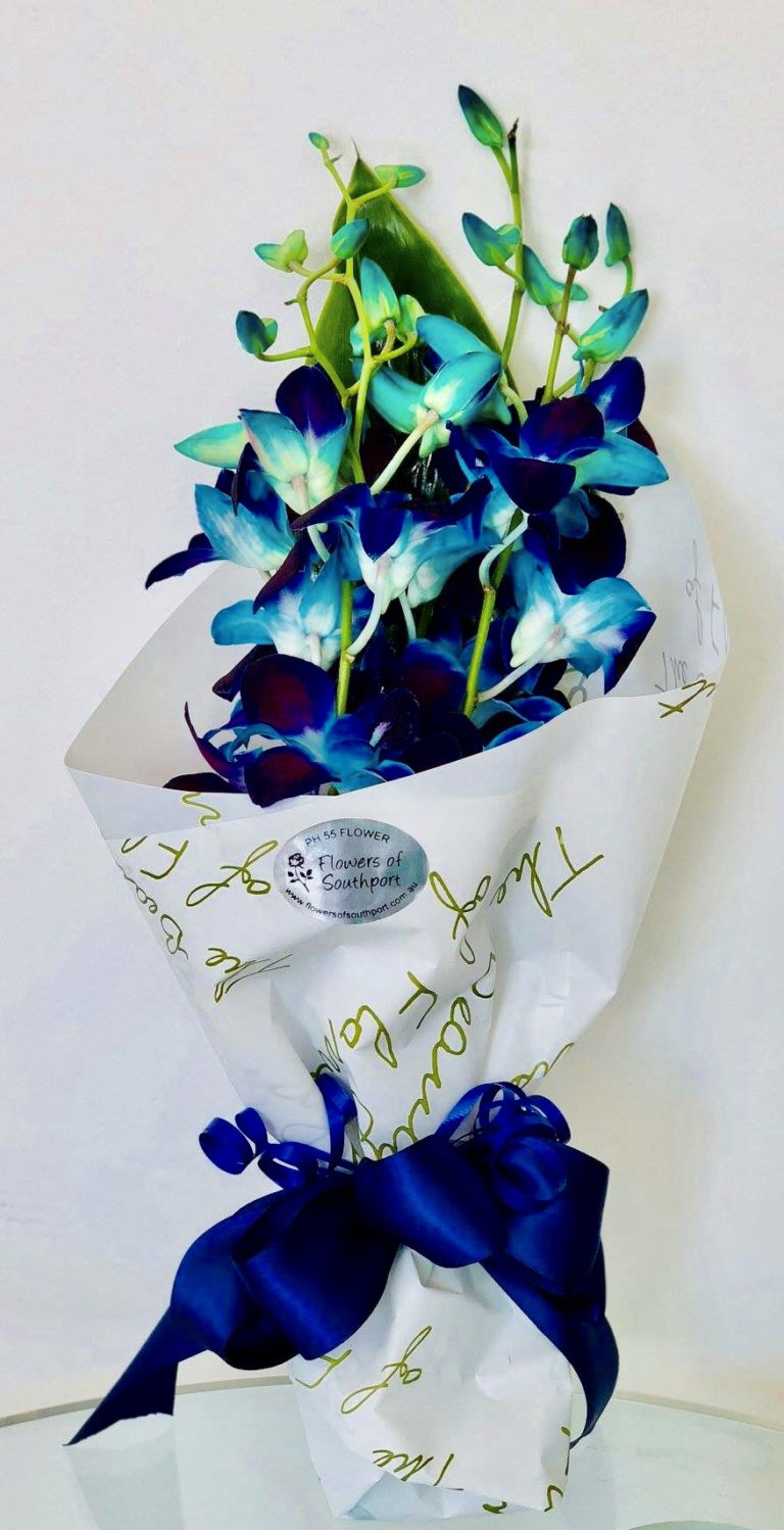 Adia – Blue Orchids – Bouquets