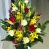 lilies ceramic vase