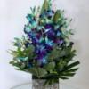 orchids ceramic vase
