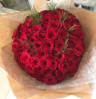 100 Red Roses Bouquet Florist Southport