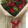 flat rose 12 roses
